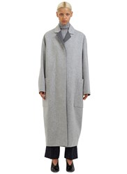 Acne Studios Amery Oversized Double Faced Wool Coat Grey