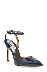 Women's Badgley Mischka 'Presto' Ankle Strap Pointy Toe Pump 4' Heel