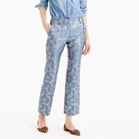 J.Crew Collection Cropped Pant In Italian Geometric Jacquard