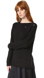 Marc Jacobs Side Tie Cashmere Sweater Black