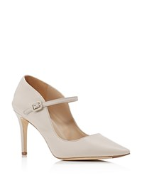 Via Spiga Camilla Mary Jane Pointed Toe Pumps Light Taupe