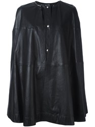 Mcq By Alexander Mcqueen Zipper Trim Cape Black