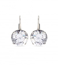 Bottega Veneta Crystal Earrings White