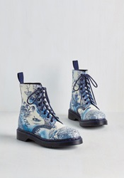 March Through Manhattan Boot In Antique Delft Mod Retro Vintage Boots Modcloth.Com