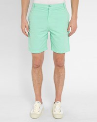 M.Studio Aqua Paul Fitted Cotton Shorts