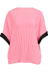 Vionnet Pleated Stretch Silk Top Pink