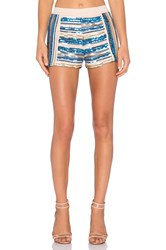 Endless Rose Sequin Short Blue