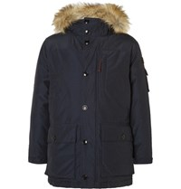 J.Crew Nordic Faux Fur Trimmed Shell Down Parka Navy