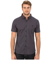 7 Diamonds Boomerang Top Charcoal Men's Short Sleeve Button Up Gray