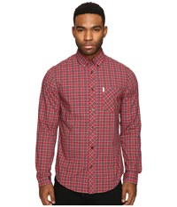 Ben Sherman Classic Tartan Check Letterbox Red Marl Men's Clothing Pink
