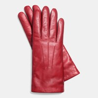 Coach Short Leather Glove Classic Red