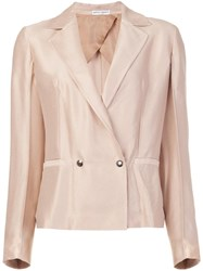 Barbara Casasola Double Breasted Suit Nude Neutrals