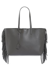 Saint Laurent Fringed Leather Tote Bag