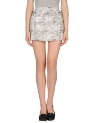 Les Prairies De Paris Mini Skirts White
