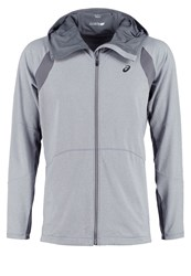 Asics Tracksuit Top Heather Grey Mottled Grey