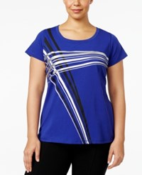 Ideology Plus Size Graphic T Shirt Only At Macy's Blazing Purple