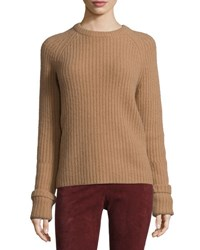 Joseph Lux Ribbed Cashmere Sweater Camel