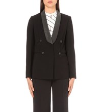 Brunello Cucinelli Monilla Collar Wool Blend Blazer Black