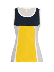 No Ka' Oi Mala Sleeveless Performance Top Yellow Multi