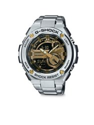 G Shock Stainless Steel Bracelet Watch Silver Gold