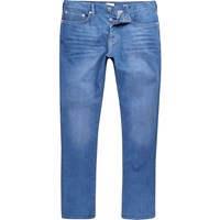 River Island Mens Bright Blue Wash Dylan Slim Fit Jeans