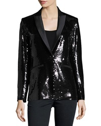 Veronica Beard Sequin Tuxedo Blazer Black