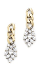 Iosselliani Agnes Earrings Gold Clear