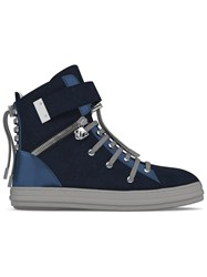 Myswear 'Regent' Hi Top Sneakers Blue