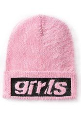 Alexander Wang Angora Hat With Patch Rose