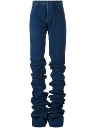 Y Project Gathered Flared Jeans Blue