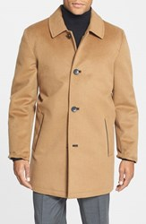 Men's Vince Camuto Water Repellent Wool Blend Car Coat Camel