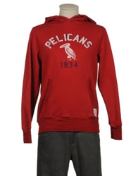 Retro Brand Hooded Sweatshirts Red