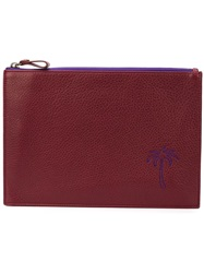 Tomas Maier Palm Tree Embroidered Clutch