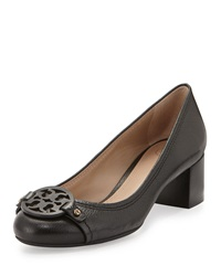 Mini Miller Leather Logo Pump Black Tory Burch