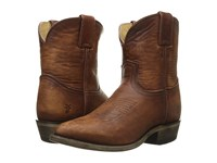 Frye Billy Short Cognac Washed Oiled Vintage Cowboy Boots Brown