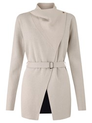 Jigsaw Double Face Belted Knit Jacket Clay