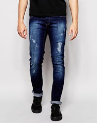 Loyalty And Faith Skinny Jean Distressing Dark Wash Blue