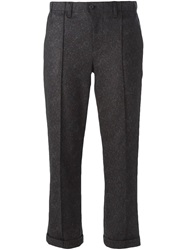 Julien David Cropped Trousers Brown
