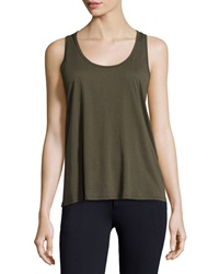 Solow Pima Blend Racerback Tank Army