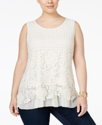 Styleandco. Style Co. Plus Size Sleeveless Lace Blouse Only At Macy's Vintage Cream