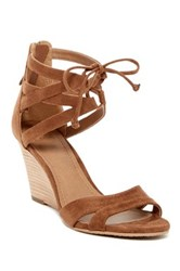 14Th And Union Carlie Strappy Wedge Heel Brown