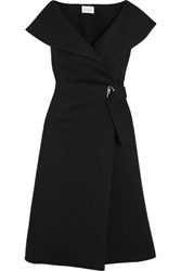 Beaufille Forbes Modal Neoprene Wrap Dress Black