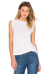 Alexander Wang Tissue Jersey Muscle Tee White