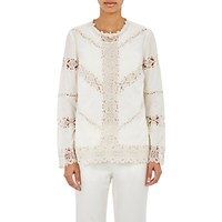 R R Studio Women's Embroidered Lace Inset Blouse Ivory