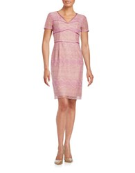 Nue By Shani Embroidered Sheath Dress Lilac