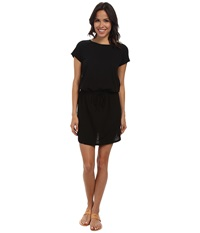 Allen Allen S S Raglan Dress Black Women's Dress