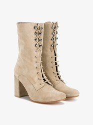 Maryam Nassir Zadeh Emanuelle Suede Boots Taupe