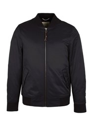 Racing Green Men's Oxford Quilted Bomber Jacket Navy