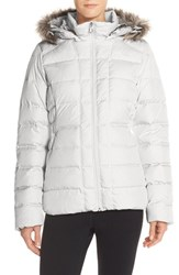 The North Face Women's 'Gotham' Faux Fur Trim Down Jacket Vaporous Grey Dove Grey