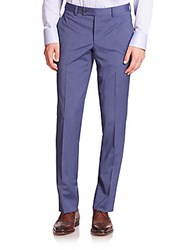Saks Fifth Avenue Ford Wool Dress Pants Blue